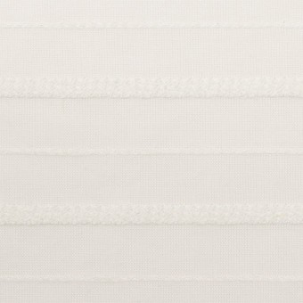 コットン&レーヨン×ボーダー(オフホワイト)×ボイルジャガード