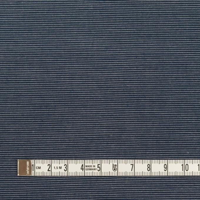 コットン&テンセル×ボーダー(アッシュネイビー)×コード織_全2色 イメージ4