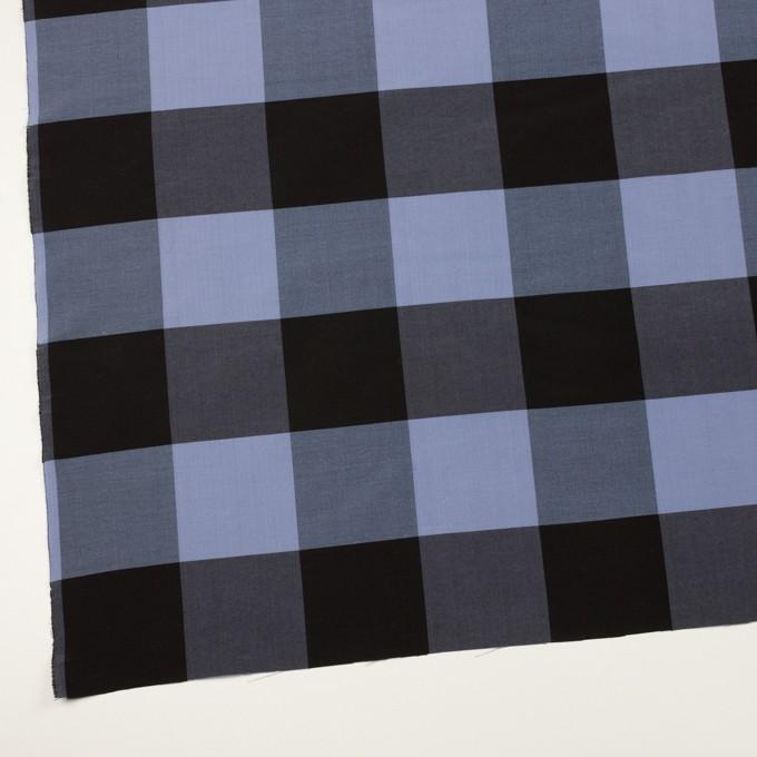 コットン&シルク×チェック(ラベンダーブルー&ブラック)×ローン イメージ2