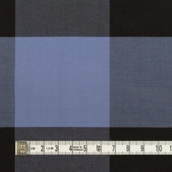 コットン&シルク×チェック(ラベンダーブルー&ブラック)×ローン サムネイル4