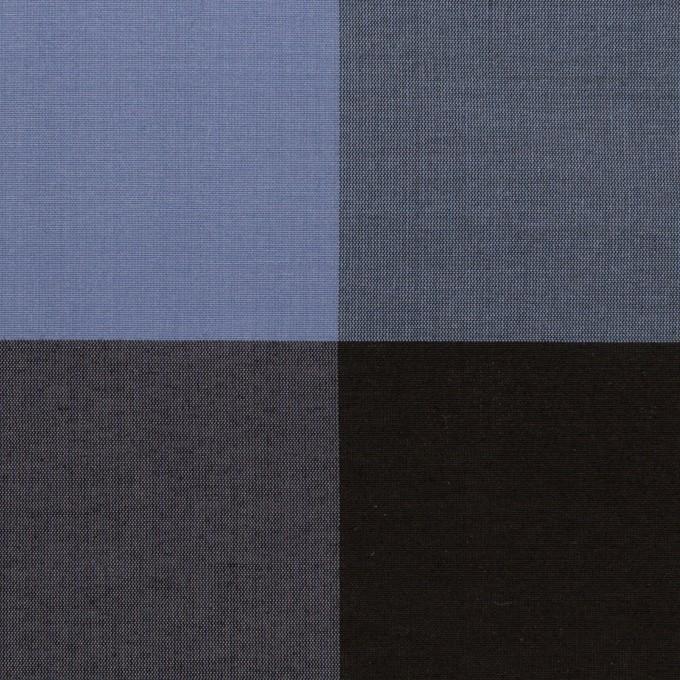 コットン&シルク×チェック(ラベンダーブルー&ブラック)×ローン イメージ1