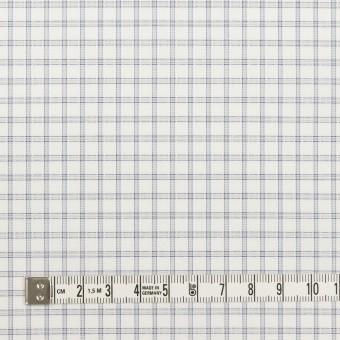 コットン&ポリエステル×チェック(ライトグレー)×ブロードジャガード_全2色 サムネイル4