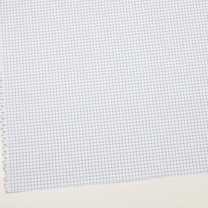 コットン&ポリエステル×チェック(サックス)×ブロードジャガード_全2色 イメージ2