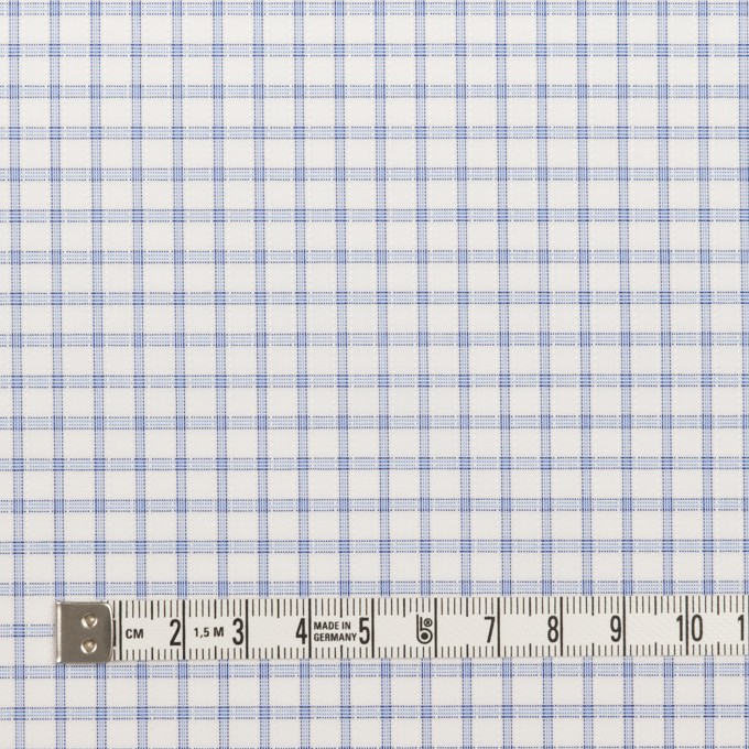コットン&ポリエステル×チェック(サックス)×ブロードジャガード_全2色 イメージ4