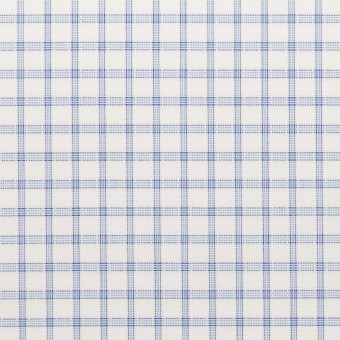 コットン&ポリエステル×チェック(サックス)×ブロードジャガード_全2色 サムネイル1