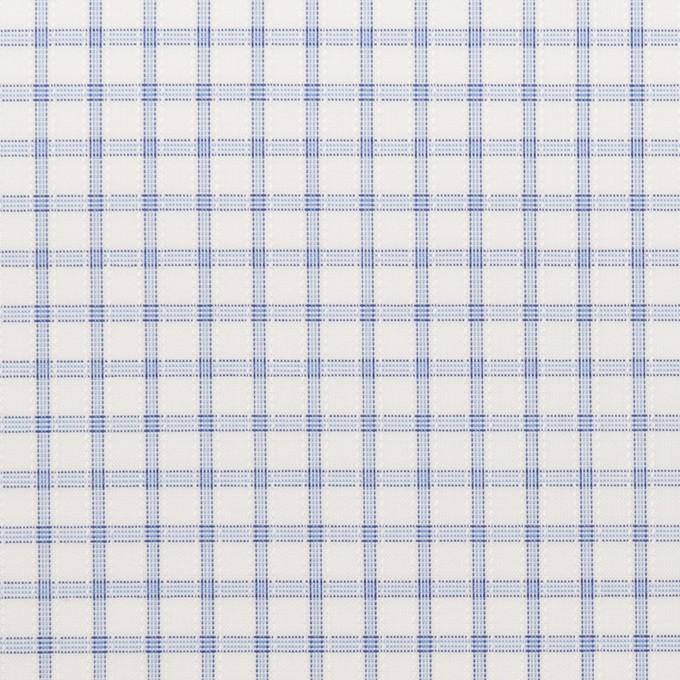 コットン&ポリエステル×チェック(サックス)×ブロードジャガード_全2色 イメージ1