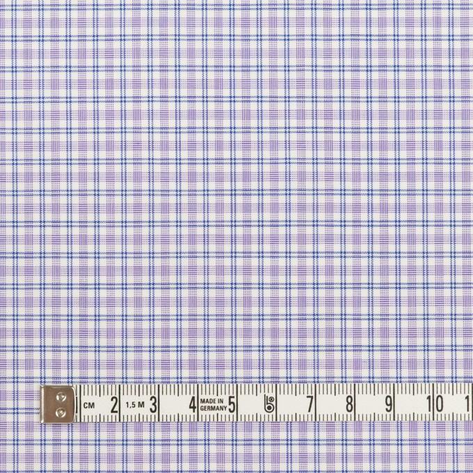 コットン×チェック(ラベンダー)×ブロード_全2色 イメージ4