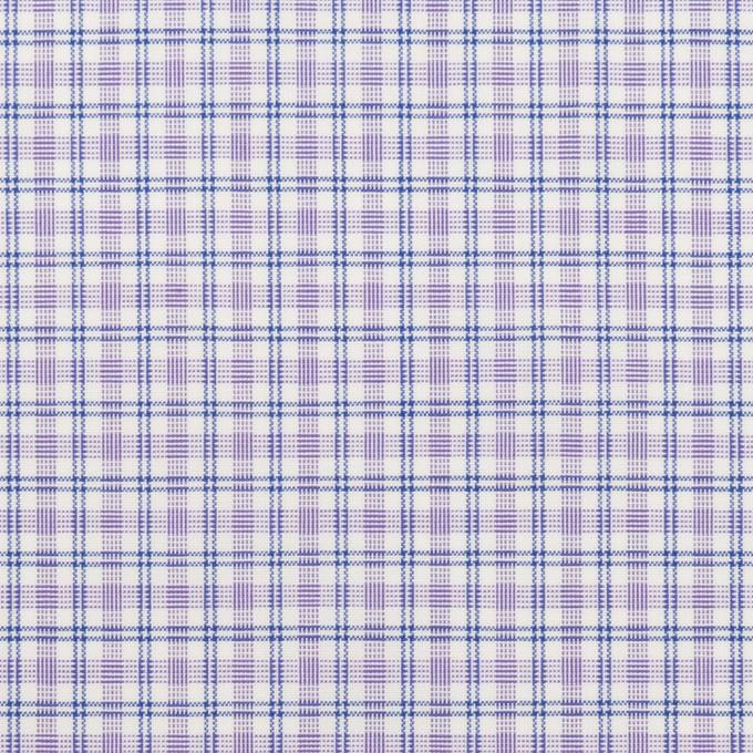 コットン×チェック(ラベンダー)×ブロード_全2色 イメージ1