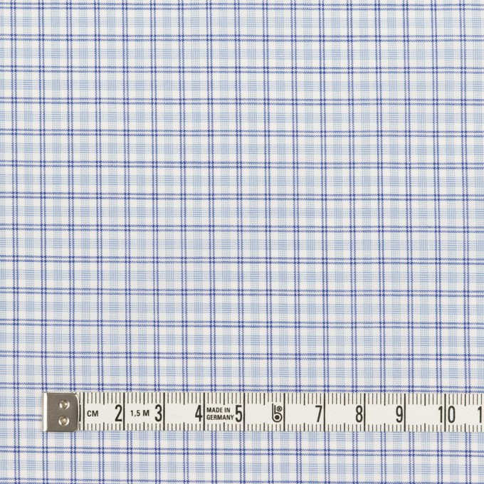 コットン×チェック(サックス)×ブロード_全2色 イメージ4