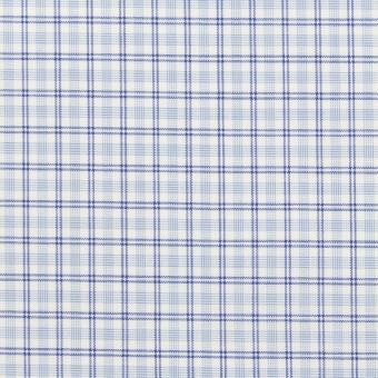 コットン×チェック(サックス)×ブロード_全2色 サムネイル1