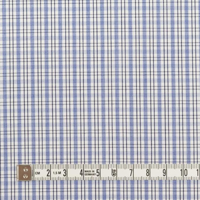 コットン×チェック(ラベンダーブルー)×ブロード イメージ4