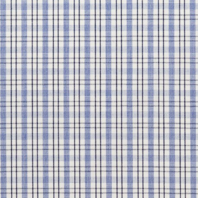 コットン×チェック(ラベンダーブルー)×ブロード イメージ1