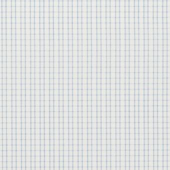 コットン&ポリエステル×チェック(サックス)×ジャガード
