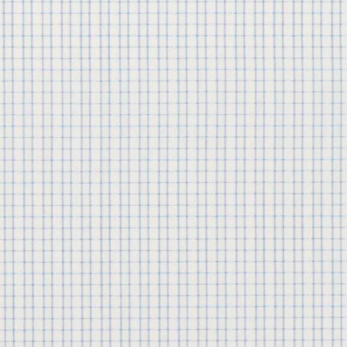 コットン&ポリエステル×チェック(サックス)×ジャガード イメージ1
