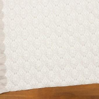 コットン×幾何学模様(ホワイト)×ボイルシャーリング刺繍 サムネイル2