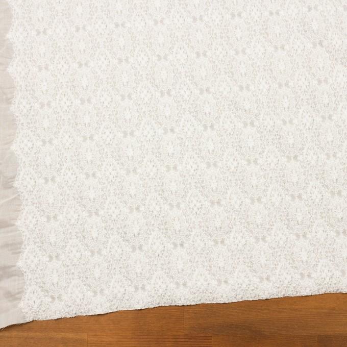 コットン×幾何学模様(ホワイト)×ボイルシャーリング刺繍 イメージ2