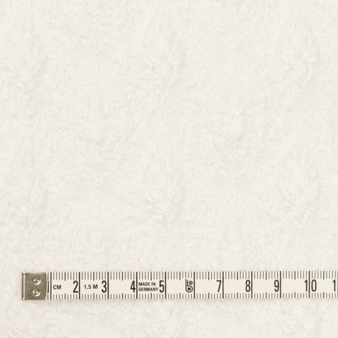 コットン×幾何学模様(ホワイト)×ボイルシャーリング刺繍 イメージ4
