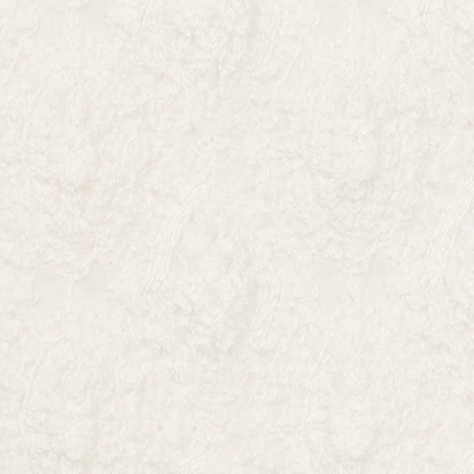 コットン×幾何学模様(ホワイト)×ボイルシャーリング刺繍 イメージ1