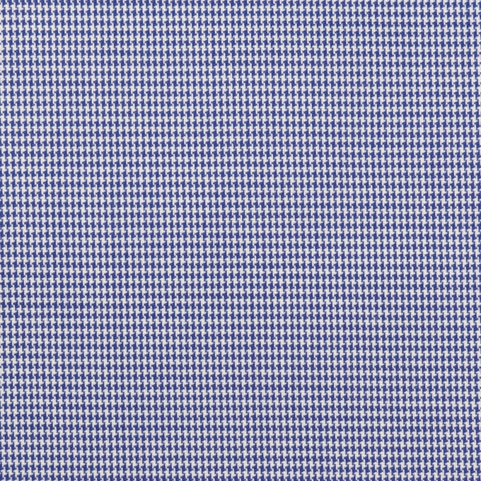 コットン×千鳥格子(ネイビー)×ブロード イメージ1