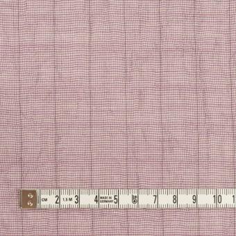 コットン&ポリウレタン×千鳥格子(モーブ)×ボイルシャーリング_全2色 サムネイル4