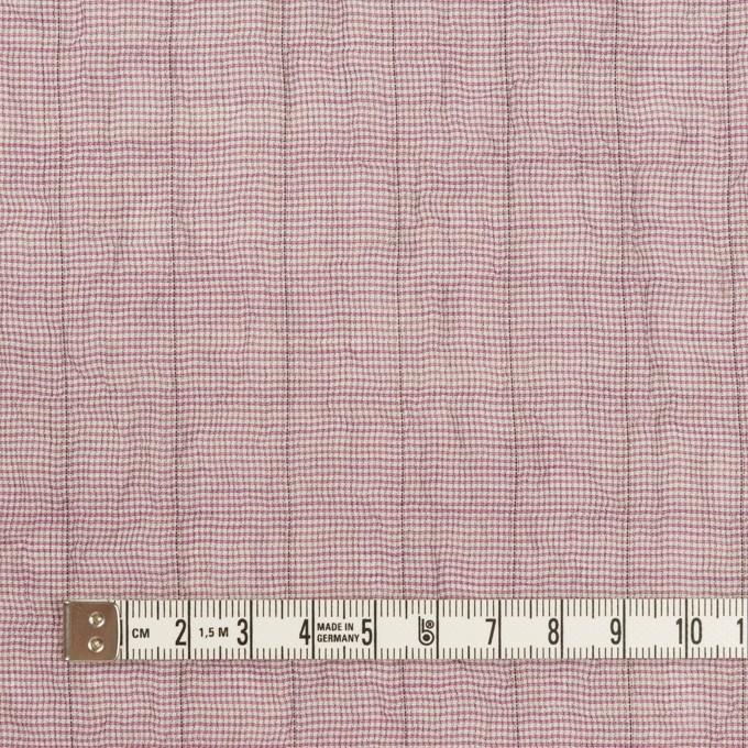 コットン&ポリウレタン×千鳥格子(モーブ)×ボイルシャーリング_全2色 イメージ4