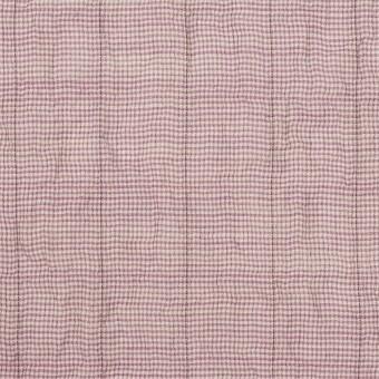 コットン&ポリウレタン×千鳥格子(モーブ)×ボイルシャーリング_全2色
