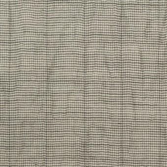 コットン&ポリウレタン×千鳥格子(チャコール)×ボイルシャーリング_全2色 サムネイル1