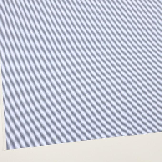 コットン&ポリエステル混×ストライプ(サックスブルー)×ブロードストレッチ イメージ2