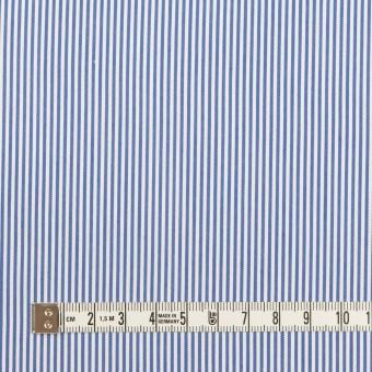 コットン&ポリエステル混×ストライプ(サックスブルー)×ブロードストレッチ サムネイル4
