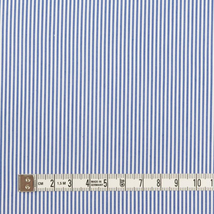コットン&ポリエステル混×ストライプ(サックスブルー)×ブロードストレッチ イメージ4