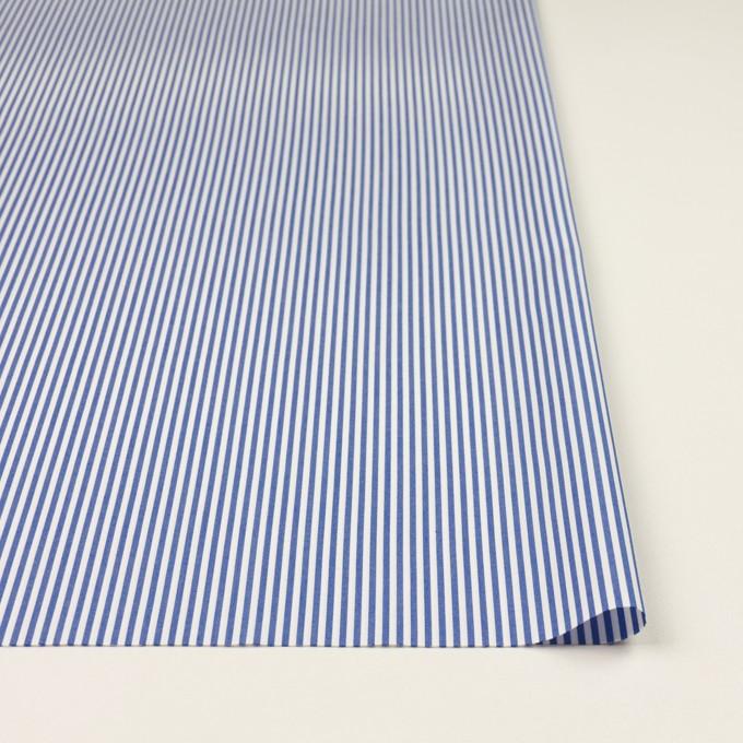 コットン&ポリエステル×ストライプ(サックスブルー)×ブロード イメージ3