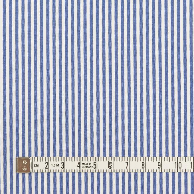 コットン&ポリエステル×ストライプ(サックスブルー)×ブロード イメージ4