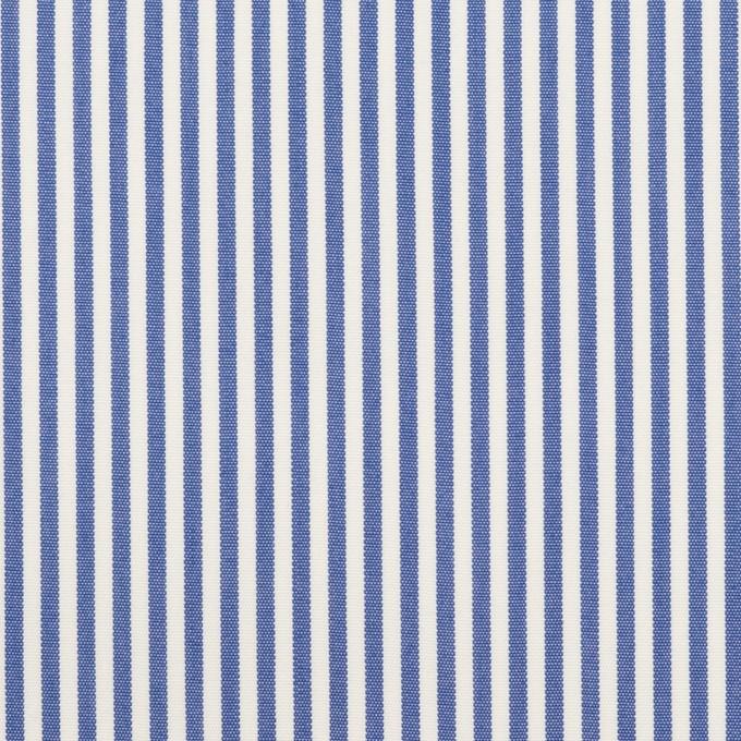 コットン&ポリエステル×ストライプ(サックスブルー)×ブロード イメージ1