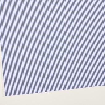 コットン&ポリエステル×ストライプ(ブルー)×ローン サムネイル2