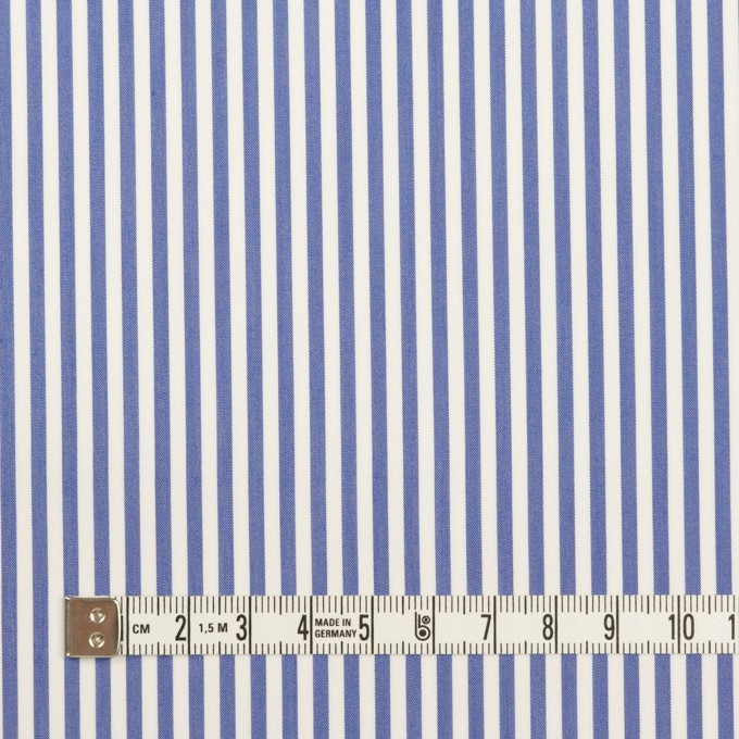 コットン&ポリエステル×ストライプ(ブルー)×ローン イメージ4