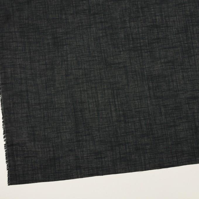 コットン×無地(ブラック)×スラブボイル イメージ2
