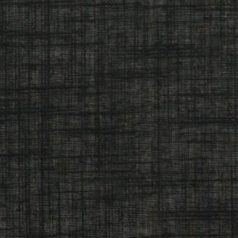 コットン×無地(ブラック)×スラブボイル