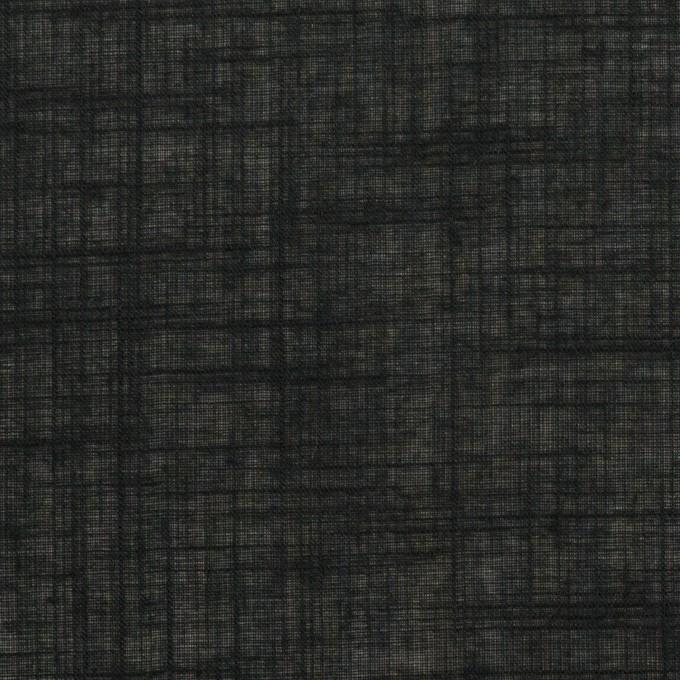 コットン×無地(ブラック)×スラブボイル イメージ1