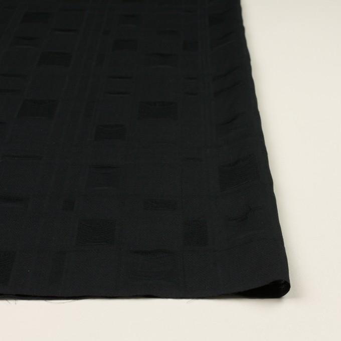 コットン×チェック(ブラック)×二重織ジャガード イメージ3