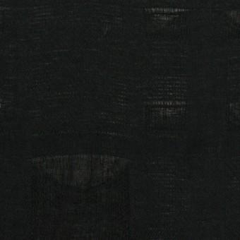 コットン×チェック(ブラック)×二重織ジャガード サムネイル1
