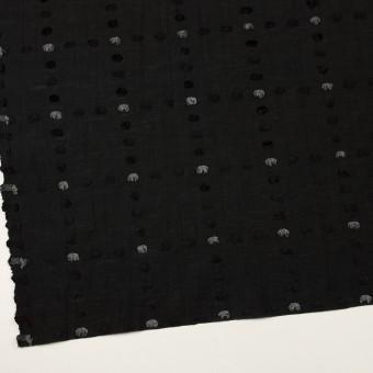コットン&ナイロン×チェック(ブラック)×オーガンジー・カットジャガード サムネイル2
