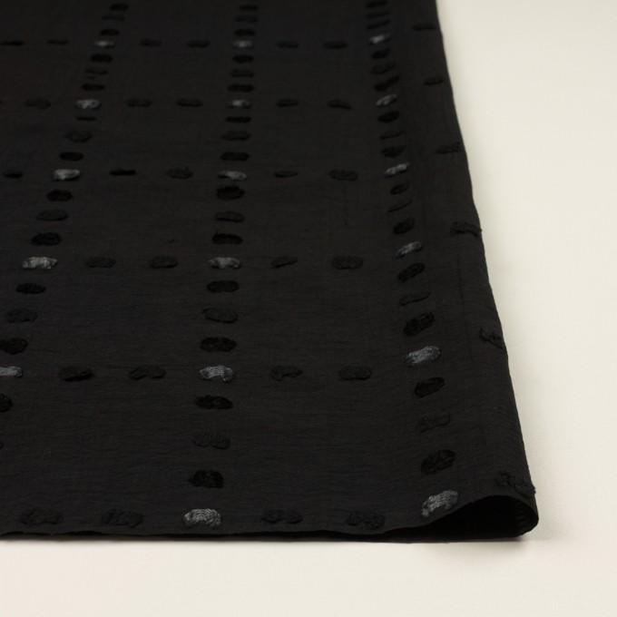 コットン&ナイロン×チェック(ブラック)×オーガンジー・カットジャガード イメージ3