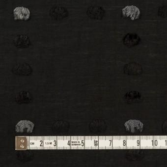 コットン&ナイロン×チェック(ブラック)×オーガンジー・カットジャガード サムネイル4