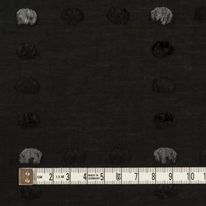 コットン&ナイロン×チェック(ブラック)×オーガンジー・カットジャガード イメージ4