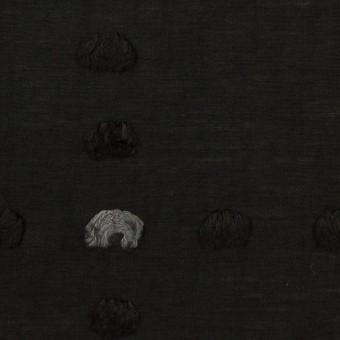 コットン&ナイロン×チェック(ブラック)×オーガンジー・カットジャガード
