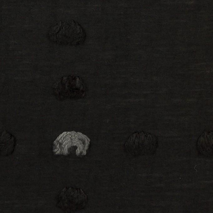 コットン&ナイロン×チェック(ブラック)×オーガンジー・カットジャガード イメージ1