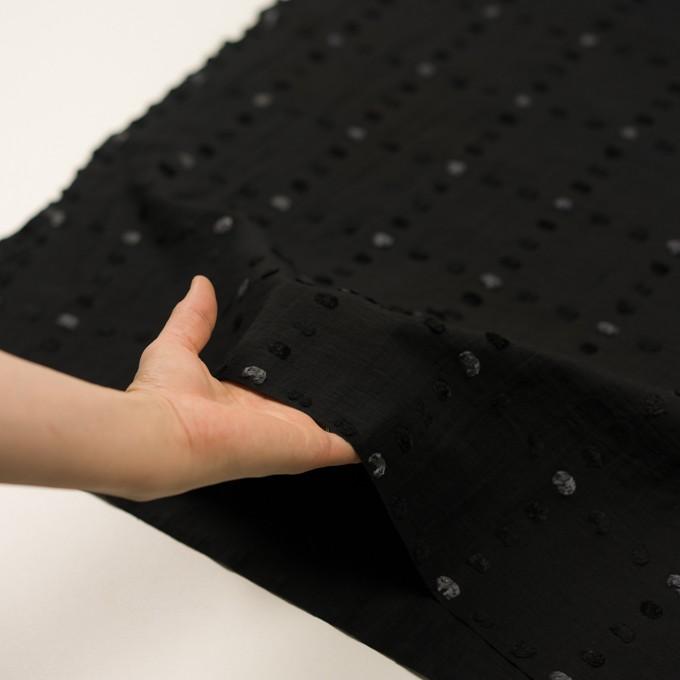 コットン&ナイロン×チェック(ブラック)×オーガンジー・カットジャガード イメージ5