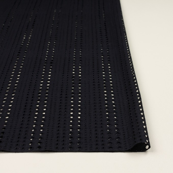 コットン×サークル(ブラック)×ローン刺繍_全2色 イメージ3