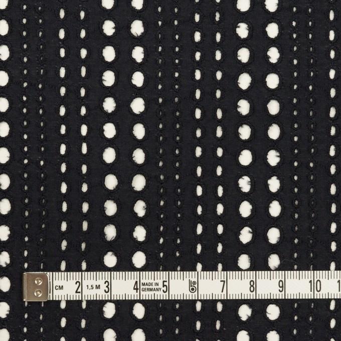 コットン×サークル(ブラック)×ローン刺繍_全2色 イメージ4