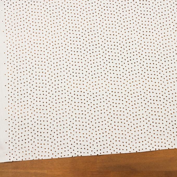 コットン×リーフ(オフホワイト)×ピケ刺繍 イメージ2
